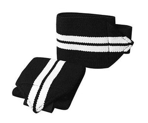 Premium Quality cross fit exercise Heavy Duty Pro Pair Wrist Wraps BLACK WHITE
