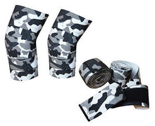 Premium Quality Cross fit protecting pro pair knee wrap Camouflage