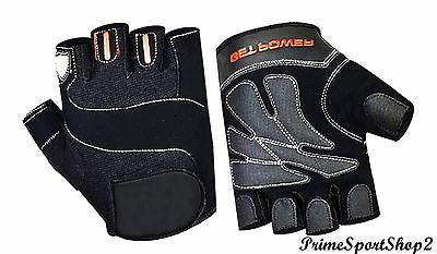TOPP QUALITY PADDED CYCLING GLOVES BICYCLE BIKE CYCLE GYM FITNESS WEIGHT LIFTING