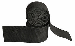 Premium Quality cross fit exercise Heavy Duty Pro Pair knee Wraps FULL BLACK