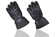 REAL SOFT LEATHER MEN'S WINTER WATERPROOF THINSULATE THERMAL LINING BLACK GLOVES
