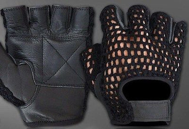 All-Purpose Padded Mesh Leather Wheelchair Gloves