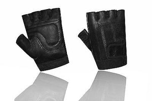 Weight Lifting Padded Leather Fitness Training Body Building Wheelchair Gloves