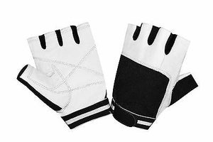 GYM SPORTS WHEELCHAIR WEIGHT LIFTING PADDED LEATHER GLOVES W1002