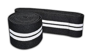 Premium Quality Cross fit protecting pro pair knee wrap black and white