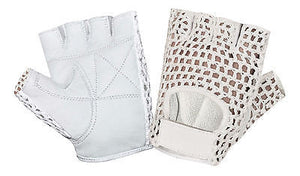 MESH* CROCHET WHEELCHAIR WEIGHT LIFTING LEATHER HALF FINGER GLOVE'S