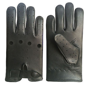REAL SOFT LEATHER MEN'S TOP QUALITY DRIVING RIDING GLOVES STYLISH FASHION D-508