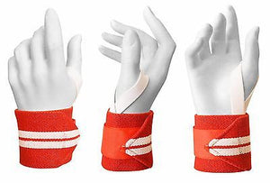 Wrist Wraps Premium Quality Crossfit Bodybuilding Heavy Duty Pro Pair 18""