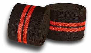 Premium Quality Cross fit protecting pro pair knee wrap black and red