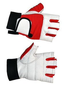 PRIME SPORTS WEIGHT LIFTING PADDED LEATHER TRAINING BODY BUILDING GYM  GLOVES