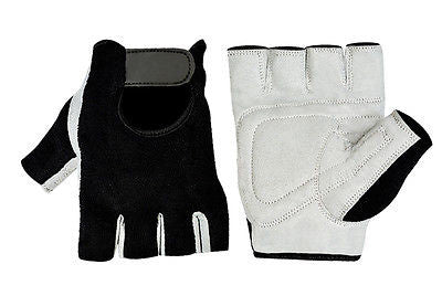 WEIGHT LIFTING GREY GYM PADDED TRAINING HALF FINGER GLOVES 1012
