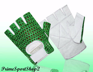 Weigh Lifting Padded Mesh Leather Cycling Wheelchair Gloves W1041