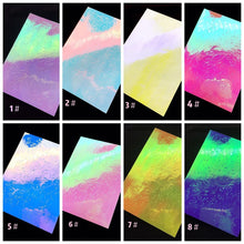 Holographic Flame Nail Stickers