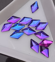 Diamond Shaped Rainbow Crystals 10 pack - Nirvana Nail and Beauty Supplies