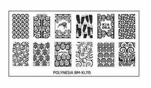 Bundle Monster Polynesia XL Stamping Plate - Maori Mana - Nirvana Nail and Beauty Supplies
