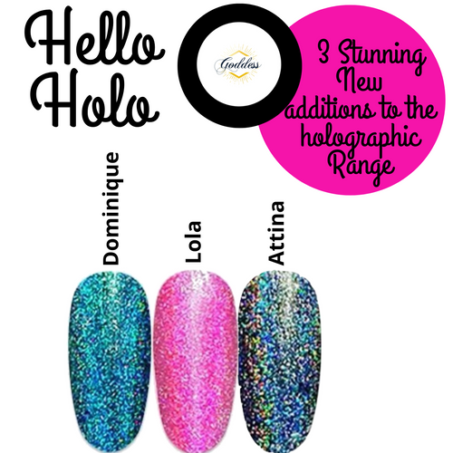 Set of 3 Holographic Gel Polishes