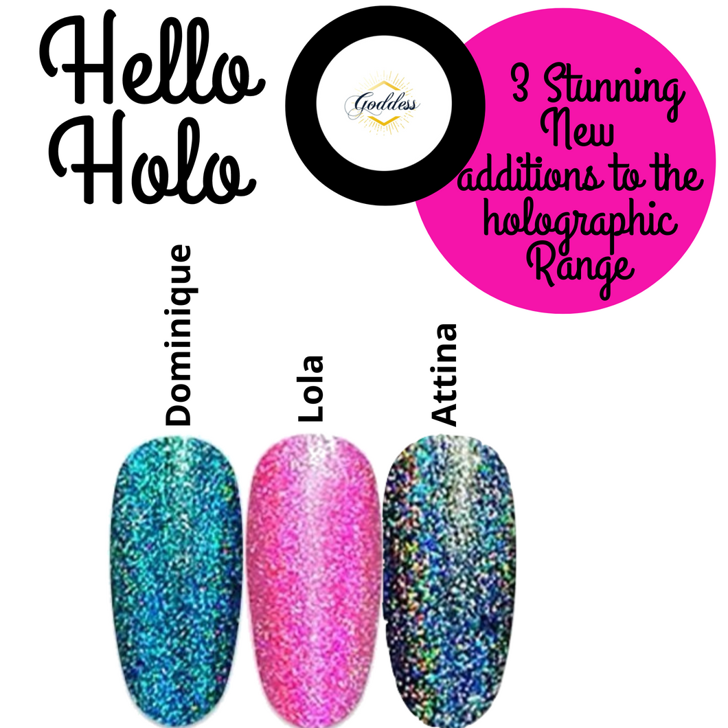 New! Set of 3 Holographic Gel Polishes