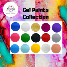 Goddess Gel Paints Complete Set of 15 with free Set of Goddess Nail Art Brushes