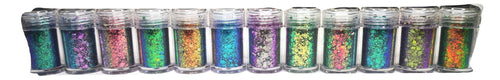 PRE-ORDER All 12 Sparklies Chameleon Glitters in Shaker Pots