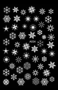 Snowflake Nail Art Stickers
