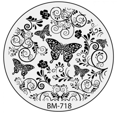 Secret Garden - Beautifil Bustling Butterflies (BM-718) Stamping Plate