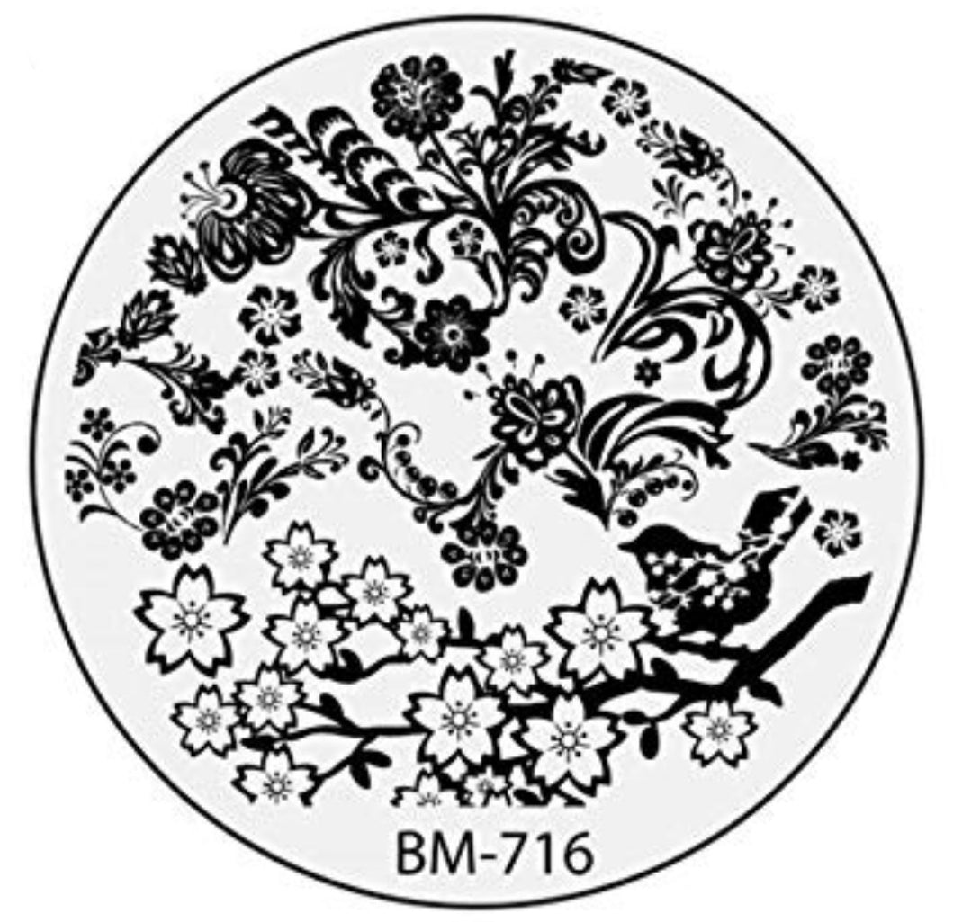Secret Garden - Boughs of Beauties (BM-716) Stamping Plate