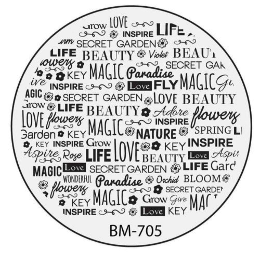 Secret Garden - Magic Spells (BM-705) Stamping Plate