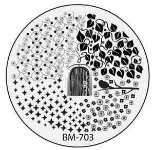Secret Garden - Behind The Vine Door (BM-703) Stamping Plate