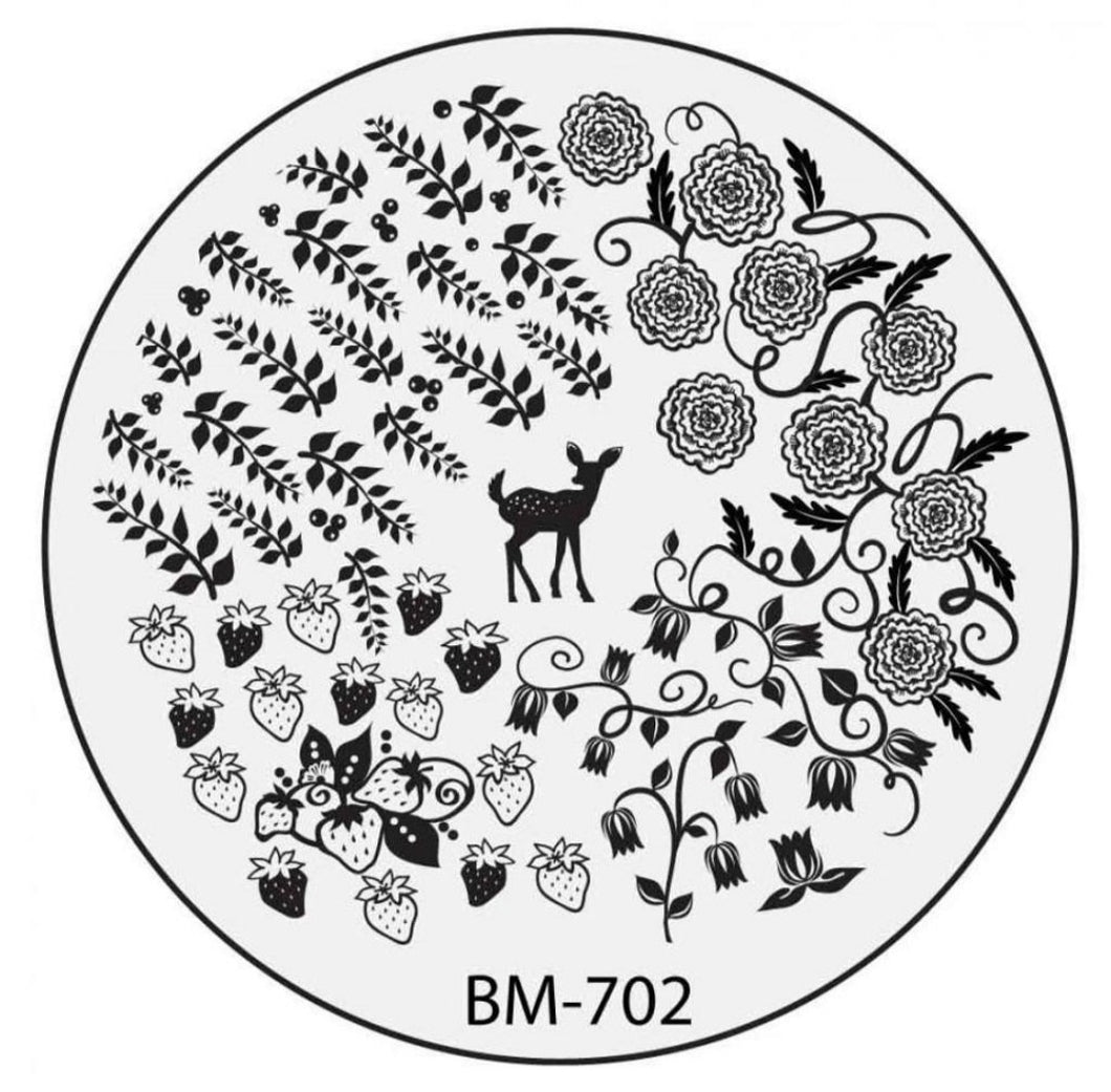 Secret Garden - Deer Pass Me The Berries (BM-702) Stamping Plate