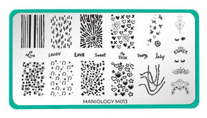 Forever Young: New Romantics (m013) - Maniology Nail Stamping Plate