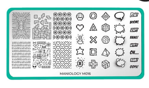 Rebel Yell: Level Up (m016) - Maniolohy Nail Stamping Plate