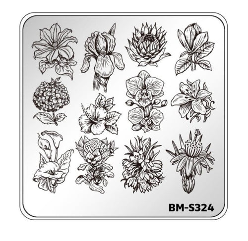 Botanicals: Golden Afternoon (BM-S324)  Stamping Plate