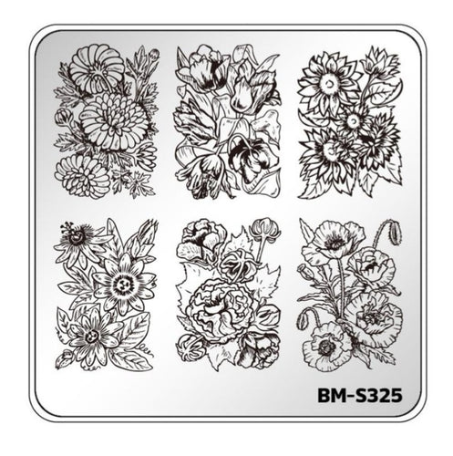 Botanicals: Garden Party (BM-S325) Stamping Plate