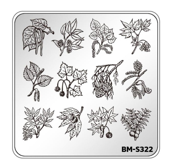 Botanicals: Branch Out (BM-S322)  Stamping Plate