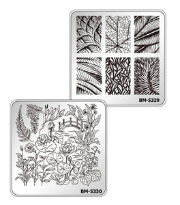 Botanicals Collection (S321 to S330) - Set of 10 Nail Stamping Plates