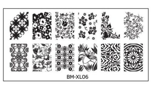 Bundle Monster Full Nail Designs (XL06) Stamping Plate