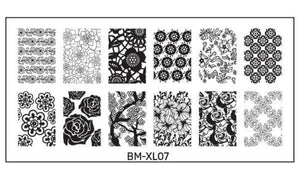 Bundle Monster Full Nail Stamping (XL07) Stamping Plate