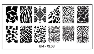 Bundle Monster Full Nail Designs (XL08) Stamping Plate