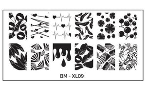 Bundle Monster Full Nail Designs (XL09) Stamping Plate