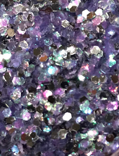 Sparklies Glitter - Iced Lavendar - Chunky 0.04 - Nirvana Nail and Beauty Supplies