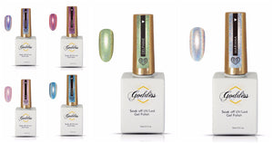 Goddess Holographic Gel Polish Range - All 6 Colours 15MLS BOTTLES