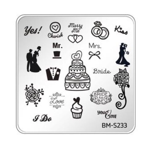 Bundle Monster Occasions Collection Nail Art Stamping Plates - Family Ties - Nirvana Nail and Beauty Supplies