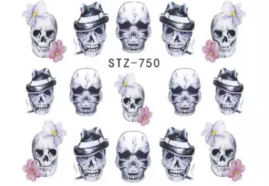Gangster Skulls Water Decals