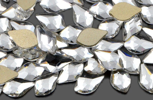 10 Pack Clear Petal Crystals 6 x 10mm