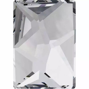 Clear Rectangle Crystals 4 x 6mm 10 Pack