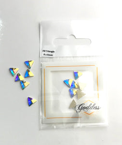 Goddess AB Triangles 6 x 6mm 10 Pack