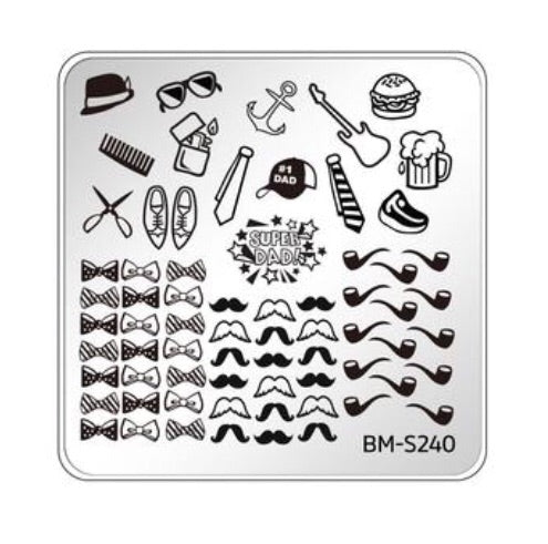 Bundle Monster Occasions Collection Nail Art Stamping Plates - Family Ties - BM-240 - Nirvana Nail and Beauty Supplies