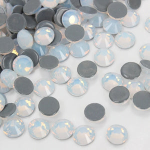 Goddess White Opal Nail Crystals Available in Multiple Sizes