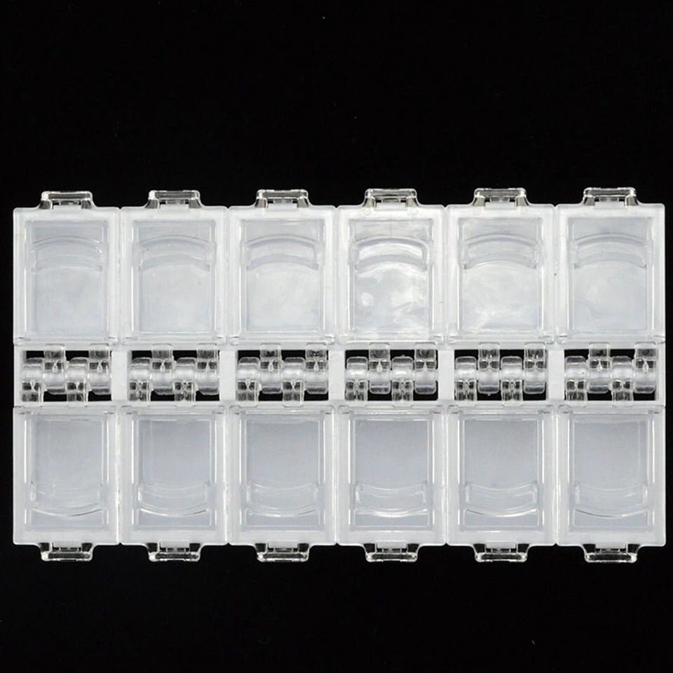 12 Compartment Nail Art / Crystal Storage Box
