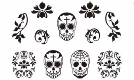 Skulls water Decals